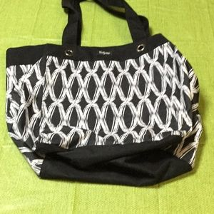 Black and white Thirty One tote.